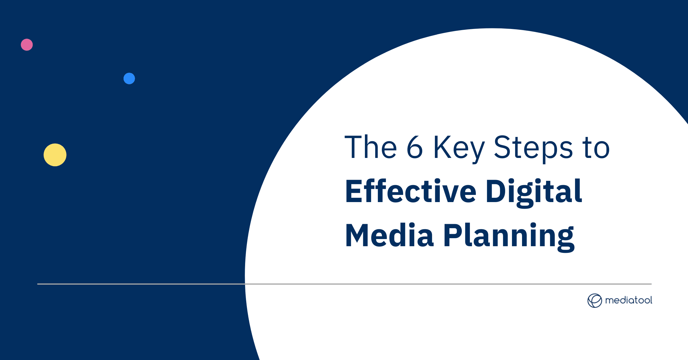 The six key steps to effective digital media planning