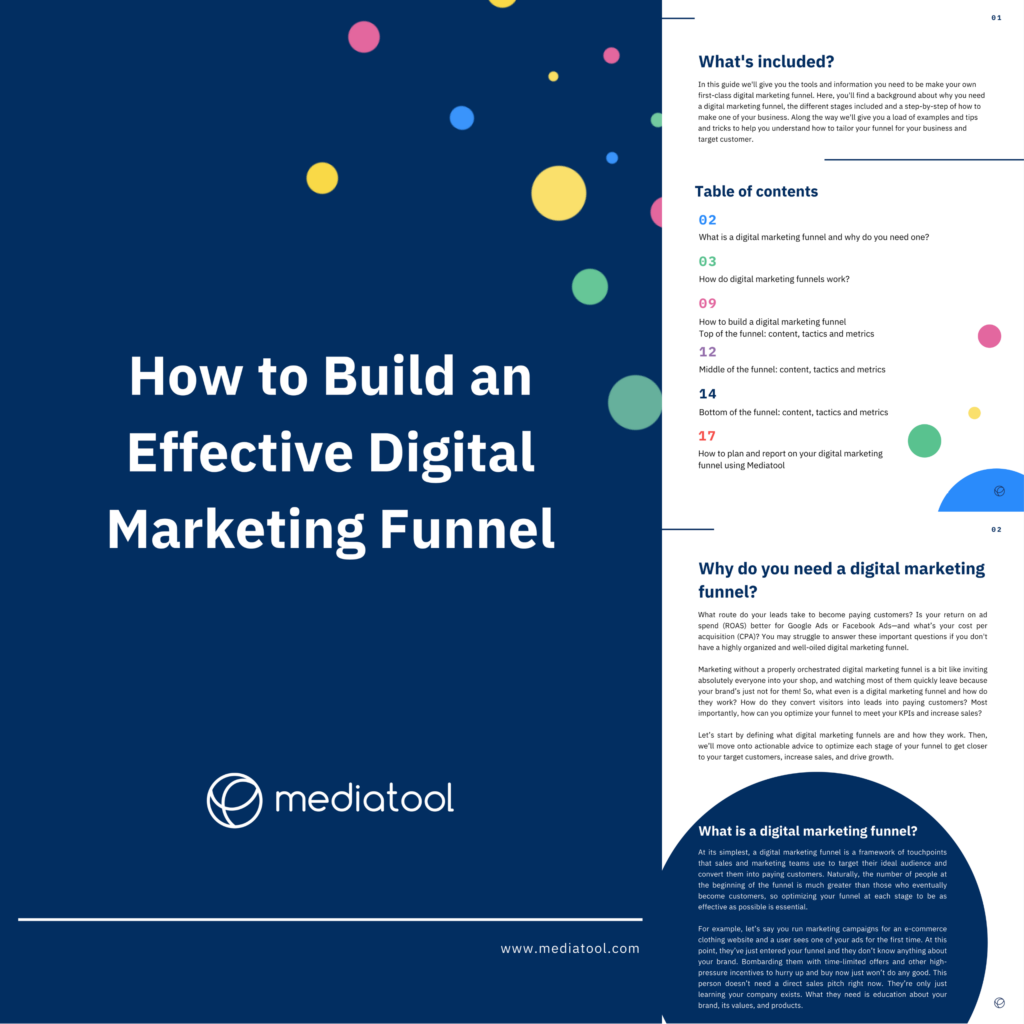 Image of the front page of our guide 'how to build an effective digital marketing funnel'